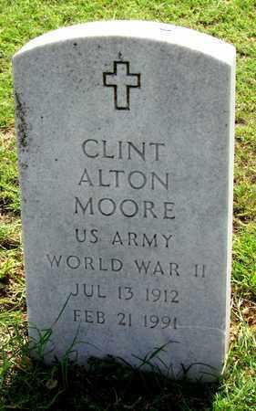 MOORE (VETERAN WWII), CLINT ALTON - Denton County, Texas | CLINT ALTON MOORE (VETERAN WWII) - Texas Gravestone Photos