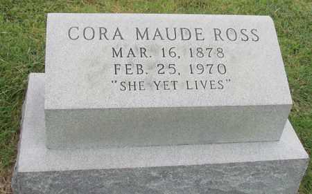 ROSS, CORA MAUDE - Denton County, Texas   CORA MAUDE ROSS - Texas Gravestone Photos