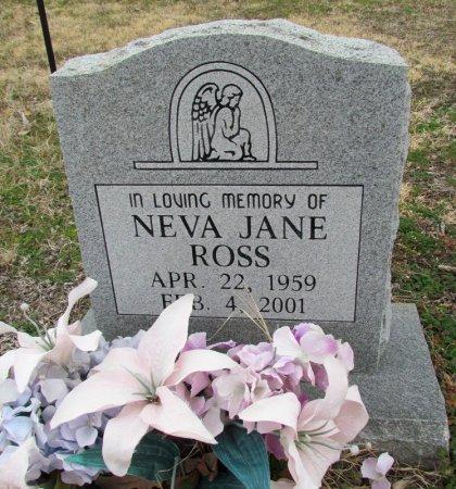 ROSS, NEVA JANE - Denton County, Texas   NEVA JANE ROSS - Texas Gravestone Photos
