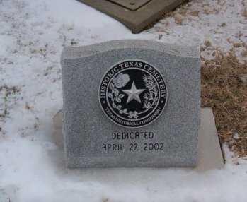 *DEDICATION MARKER,  - Donley County, Texas |  *DEDICATION MARKER - Texas Gravestone Photos