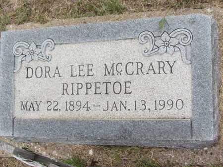 MCCRARY RIPPETOE, DORA LEE - Donley County, Texas | DORA LEE MCCRARY RIPPETOE - Texas Gravestone Photos
