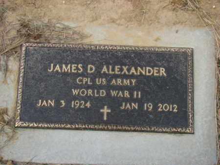 ALEXANDER (VETERAN WWII), JAMES D - Eastland County, Texas | JAMES D ALEXANDER (VETERAN WWII) - Texas Gravestone Photos