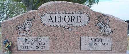 ALFORD, RONNIE - Eastland County, Texas | RONNIE ALFORD - Texas Gravestone Photos