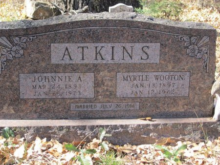 WOOTON ATKINS, MYRTLE - Eastland County, Texas | MYRTLE WOOTON ATKINS - Texas Gravestone Photos