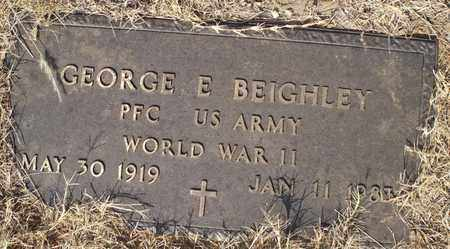 BEIGHLEY (VETERAN WWII), GEORGE E - Eastland County, Texas   GEORGE E BEIGHLEY (VETERAN WWII) - Texas Gravestone Photos
