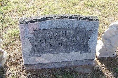BENSON, OLLIE JANE - Eastland County, Texas | OLLIE JANE BENSON - Texas Gravestone Photos