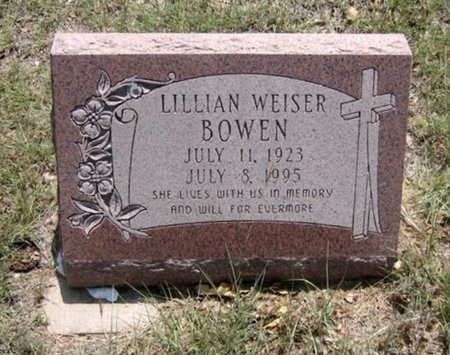 WEISER BOWEN, LILLIAN - Eastland County, Texas   LILLIAN WEISER BOWEN - Texas Gravestone Photos