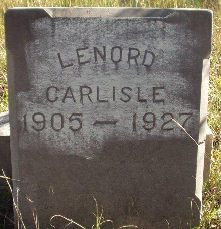 CARLISLE, LENORD - Eastland County, Texas   LENORD CARLISLE - Texas Gravestone Photos