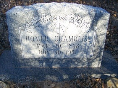 CHAMBLISS, HOMER - Eastland County, Texas | HOMER CHAMBLISS - Texas Gravestone Photos
