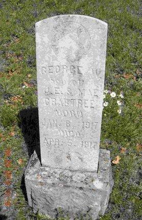 CRABTREE, GEORGE W. - Eastland County, Texas | GEORGE W. CRABTREE - Texas Gravestone Photos