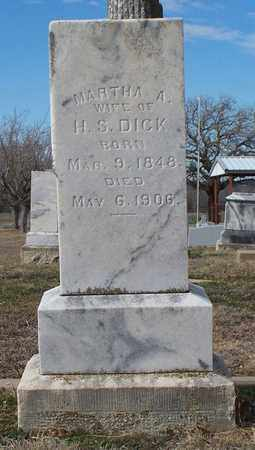 DICK, MARTHA A - Eastland County, Texas   MARTHA A DICK - Texas Gravestone Photos