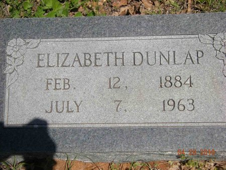 DUNLAP, ELIZABETH - Eastland County, Texas | ELIZABETH DUNLAP - Texas Gravestone Photos
