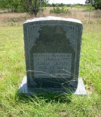 GRAEFE, AMILIA - Eastland County, Texas   AMILIA GRAEFE - Texas Gravestone Photos