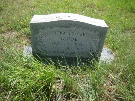 JACOB, DORA LOUISE - Eastland County, Texas | DORA LOUISE JACOB - Texas Gravestone Photos
