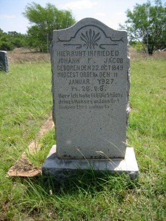 JACOB, JOHANN F. - Eastland County, Texas   JOHANN F. JACOB - Texas Gravestone Photos