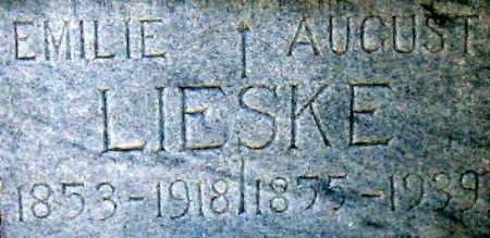 LIESKE, EMILIE (CLOSEUP) - Eastland County, Texas | EMILIE (CLOSEUP) LIESKE - Texas Gravestone Photos