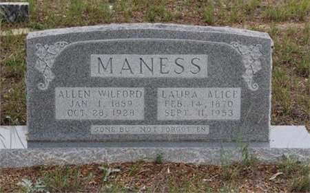 MANESS, LAURA ALICE - Eastland County, Texas | LAURA ALICE MANESS - Texas Gravestone Photos