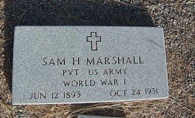 MARSHALL (VETERAN WWI), SAM H. - Eastland County, Texas | SAM H. MARSHALL (VETERAN WWI) - Texas Gravestone Photos