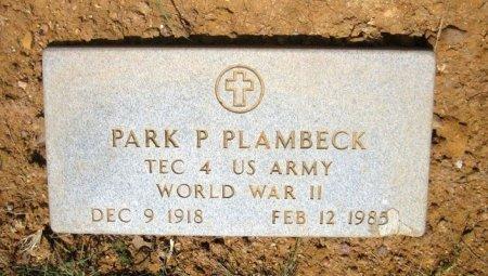 PLAMBECK (VETERAN WWII), PARK P. - Eastland County, Texas | PARK P. PLAMBECK (VETERAN WWII) - Texas Gravestone Photos