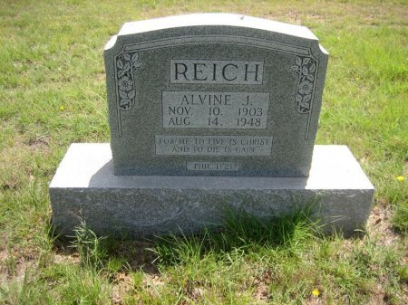 REICH, ALVINE J. - Eastland County, Texas   ALVINE J. REICH - Texas Gravestone Photos