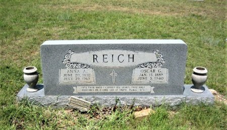 REICH, ANNA A. - Eastland County, Texas | ANNA A. REICH - Texas Gravestone Photos