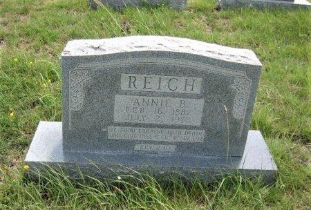 REICH, ANNIE B. - Eastland County, Texas   ANNIE B. REICH - Texas Gravestone Photos