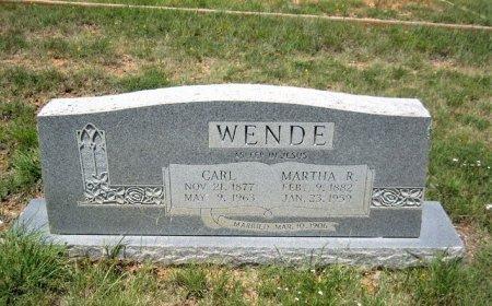 WENDE, MARTHA - Eastland County, Texas | MARTHA WENDE - Texas Gravestone Photos