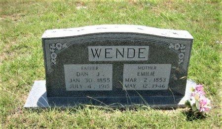 STARK WENDE, EMILIE - Eastland County, Texas | EMILIE STARK WENDE - Texas Gravestone Photos