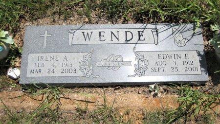 PRANGE WENDE, IRENE A. - Eastland County, Texas | IRENE A. PRANGE WENDE - Texas Gravestone Photos