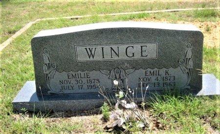 WINGE, EMIL K. - Eastland County, Texas   EMIL K. WINGE - Texas Gravestone Photos