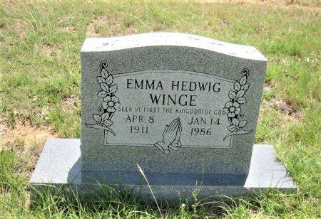 HEDWIG WINGE, EMMA - Eastland County, Texas   EMMA HEDWIG WINGE - Texas Gravestone Photos