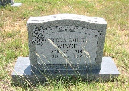 WINGE, FRIEDA EMILIE - Eastland County, Texas   FRIEDA EMILIE WINGE - Texas Gravestone Photos