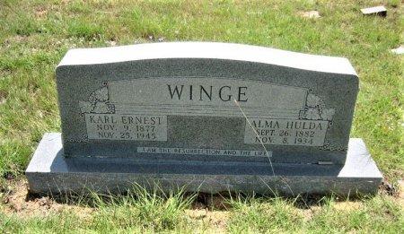 WINGE, ALMA HULDA - Eastland County, Texas | ALMA HULDA WINGE - Texas Gravestone Photos
