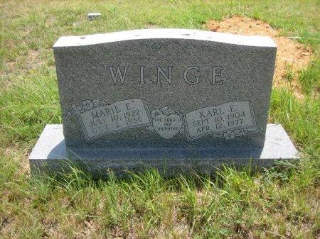 WINGE, MARIE E. - Eastland County, Texas | MARIE E. WINGE - Texas Gravestone Photos