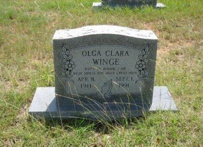WINGE, OLGA CLARA - Eastland County, Texas | OLGA CLARA WINGE - Texas Gravestone Photos