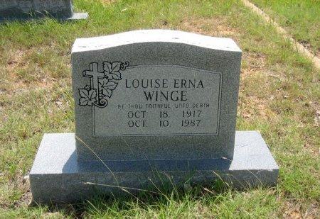 WINGGE, LOUISE ERNA - Eastland County, Texas | LOUISE ERNA WINGGE - Texas Gravestone Photos