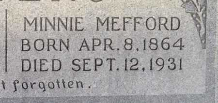 JENKINS MEFFORD, MINNIE JEWEL (CLOSE UP) - Ellis County, Texas | MINNIE JEWEL (CLOSE UP) JENKINS MEFFORD - Texas Gravestone Photos