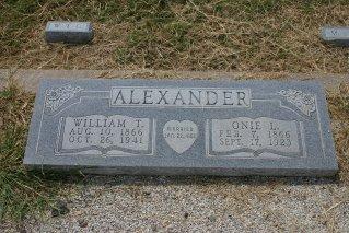 ALEXANDER, ONIE L. - Erath County, Texas | ONIE L. ALEXANDER - Texas Gravestone Photos