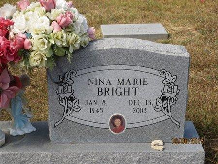 BRIGHT, NINA MARIE - Erath County, Texas | NINA MARIE BRIGHT - Texas Gravestone Photos