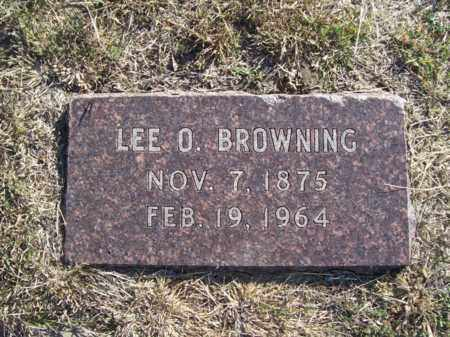 BROWNING, LEE OLIVER - Erath County, Texas | LEE OLIVER BROWNING - Texas Gravestone Photos
