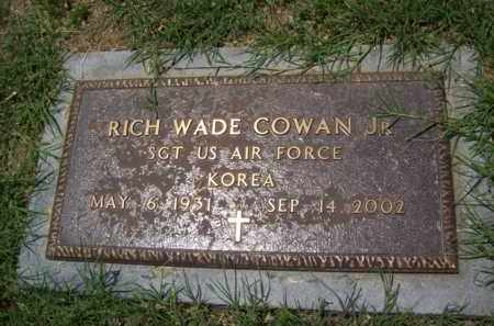 COWAN JR. (VETERAN KOR), RICH WADE - Erath County, Texas | RICH WADE COWAN JR. (VETERAN KOR) - Texas Gravestone Photos