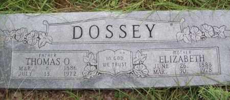 DOSSEY, ELIZABETH - Erath County, Texas | ELIZABETH DOSSEY - Texas Gravestone Photos