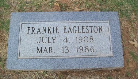 EAGLESTON, FRANCES (FRANKIE) - Erath County, Texas | FRANCES (FRANKIE) EAGLESTON - Texas Gravestone Photos