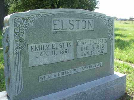 ELSTON, EMILY - Erath County, Texas | EMILY ELSTON - Texas Gravestone Photos