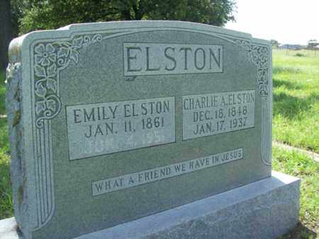 ANDERSON ELSTON, EMILY - Erath County, Texas | EMILY ANDERSON ELSTON - Texas Gravestone Photos