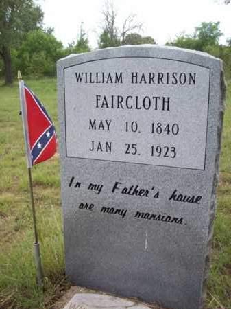 FAIRCLOTH (VETERAN CSA), WILLIAM HARRISON - Erath County, Texas   WILLIAM HARRISON FAIRCLOTH (VETERAN CSA) - Texas Gravestone Photos