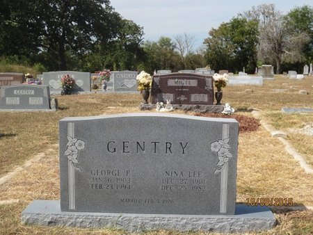 GENTRY, NINA LEE - Erath County, Texas | NINA LEE GENTRY - Texas Gravestone Photos