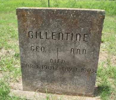 HARMON GILLENTINE, REBECCA ANN - Erath County, Texas   REBECCA ANN HARMON GILLENTINE - Texas Gravestone Photos