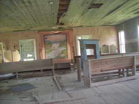 *CHURCH INSIDE,  - Erath County, Texas |  *CHURCH INSIDE - Texas Gravestone Photos