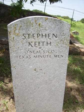 KEITH {VETERAN CSA}, STEPHEN HOLD - Erath County, Texas | STEPHEN HOLD KEITH {VETERAN CSA} - Texas Gravestone Photos